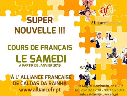 Super nouvelle ! Cours de Français le samedi